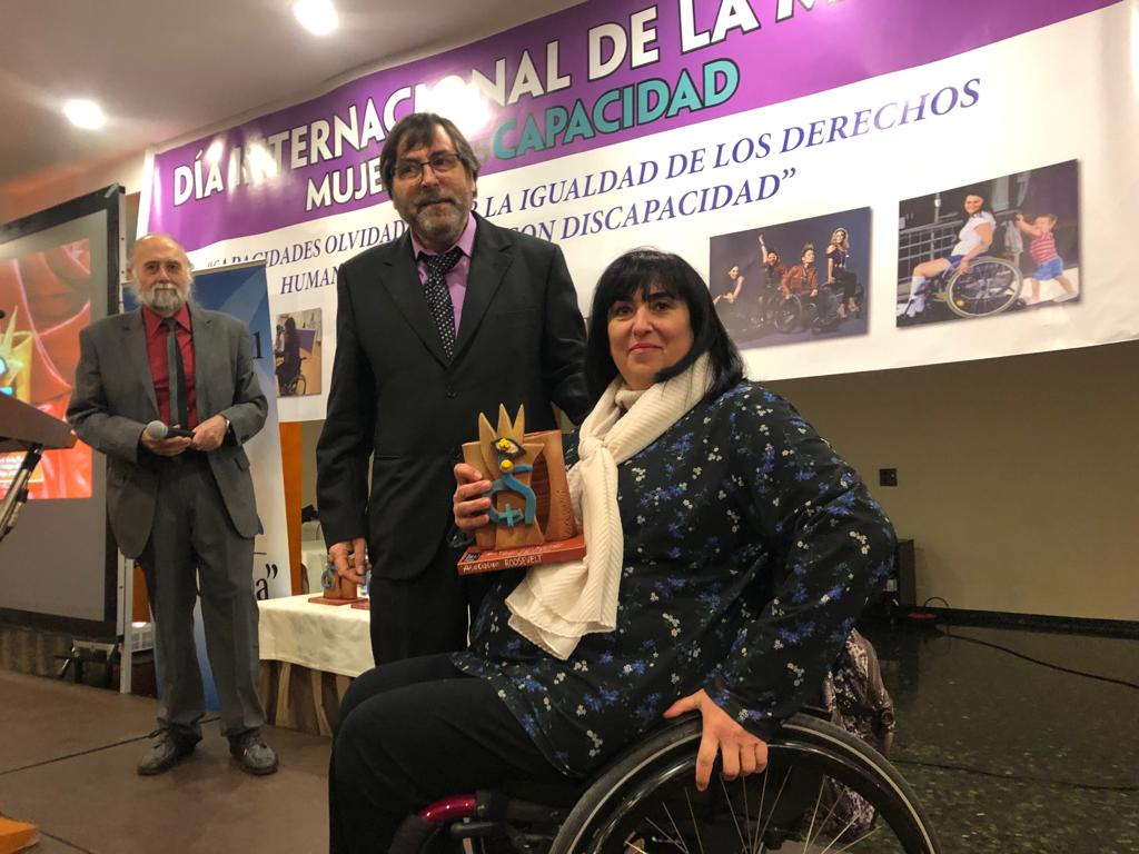 Mayte Gallego presidenta de Femaden recibe el Premio Roosevelt